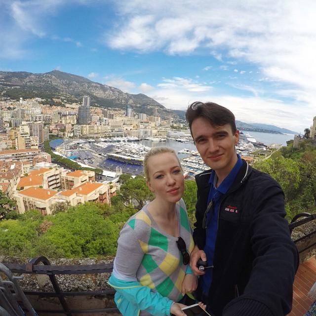 Вид с королевской горы Монте-Карло