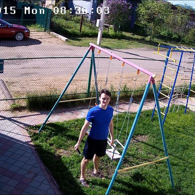 Селфи с камеры наблюдения