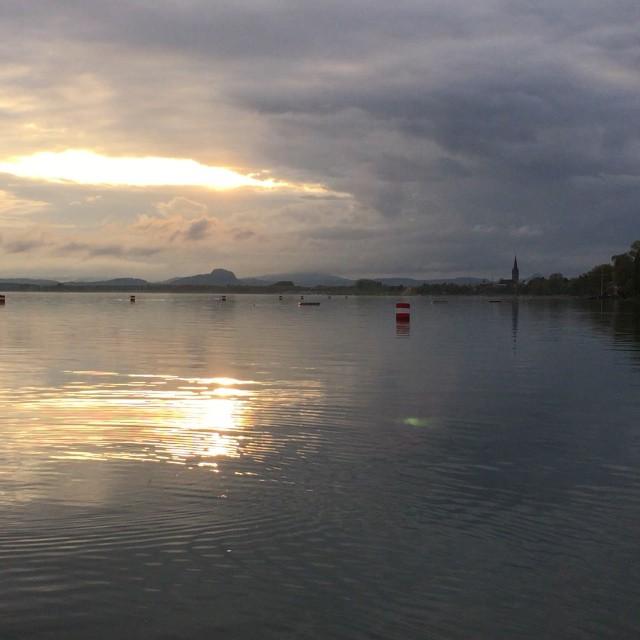 Озеро Боден, закат.
