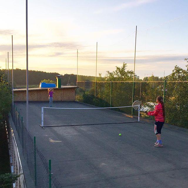 Мы строим теннисный корт на участке! Мечты сбываются!